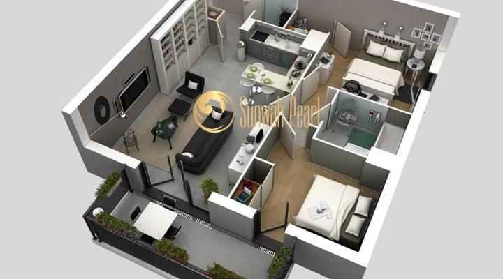 Thiết kế căn hộ Sun Wah Pearl