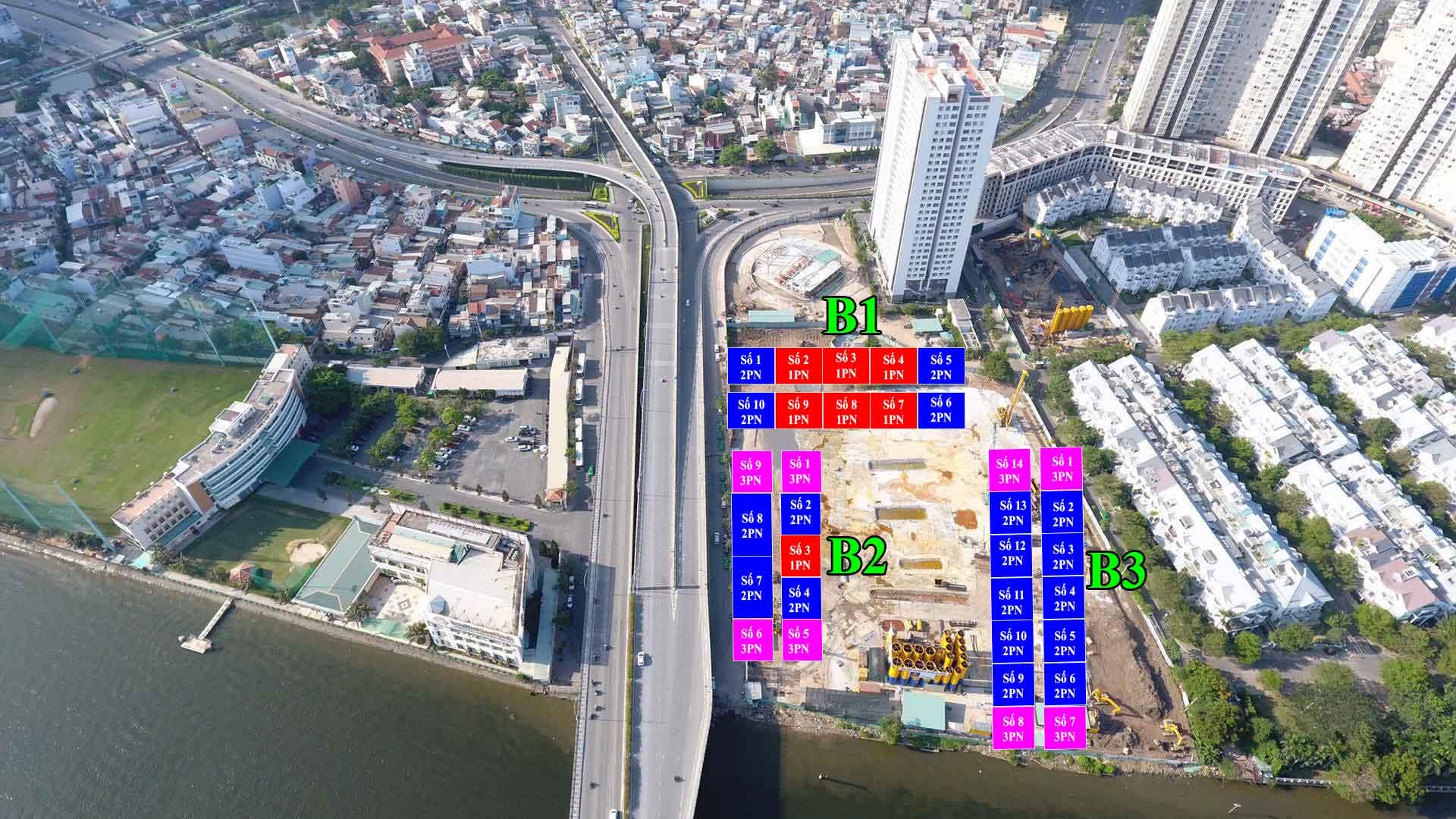 Mặt bằng căn hộ chung cư Sunwah Pearl Hongkong