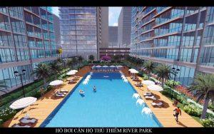 Hình phối cảnh Hồ bơi căn hộ Thủ Thiêm River Park