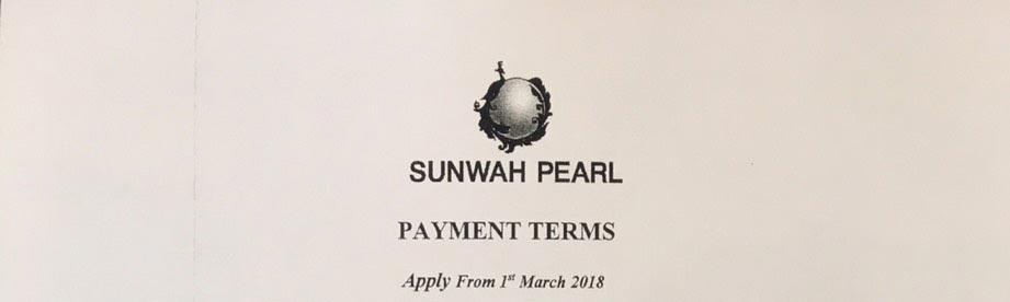 Tiến độ thanh toán Sunwah Pearl tháng 03-2018