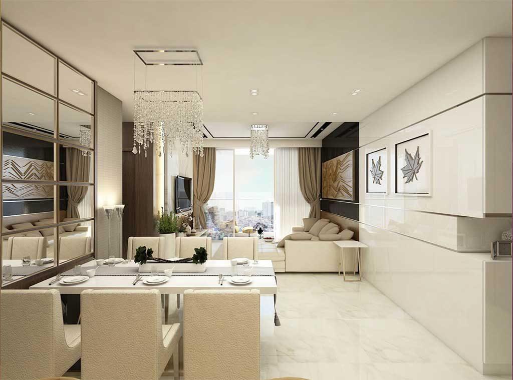 Hình ảnh căn hộ mẫu Sunwah Pearl 3 phòng ngủ