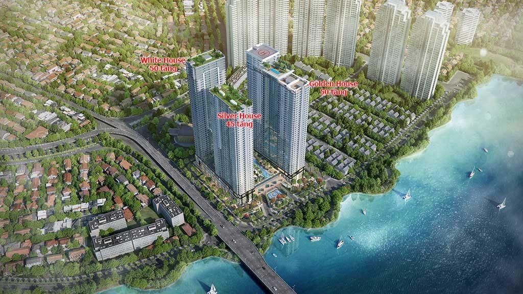 Phối cảnh 3 toà tháp căn hộ Sunwah Pearl