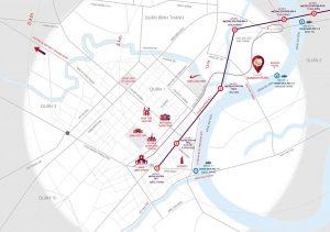 Bản đồ vị trí dự án Sunwah Pearl