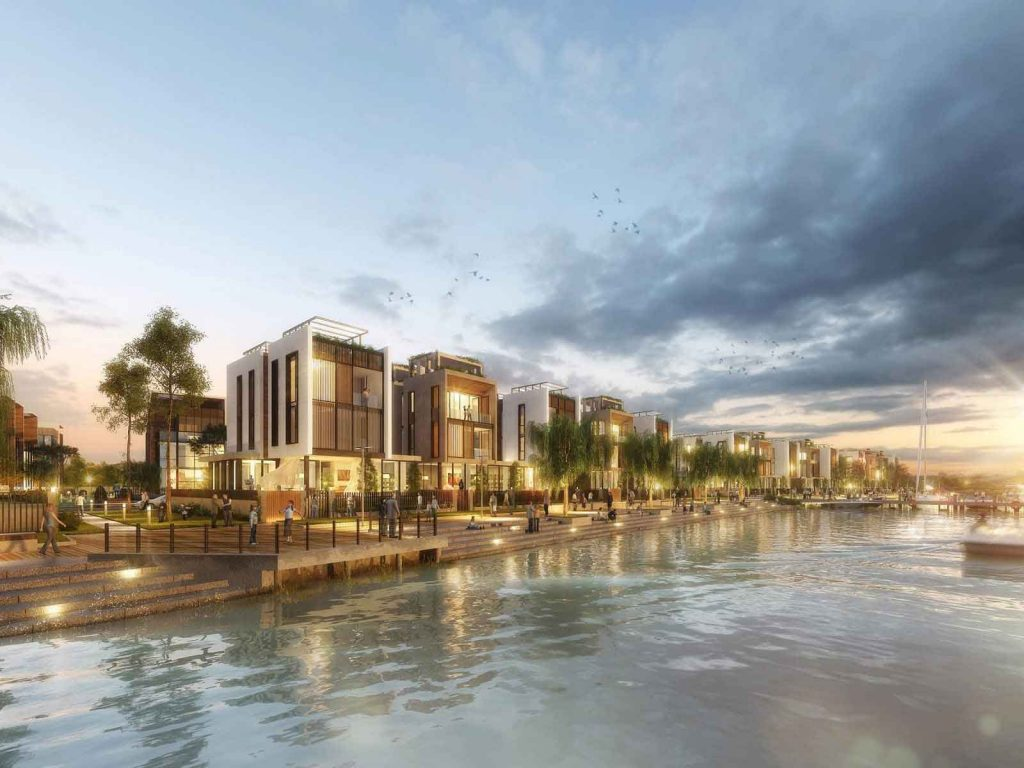Các căn biệt thự đơn lập và song lập  Saigon Quays được đặt ngay phía ngoài bờ sông
