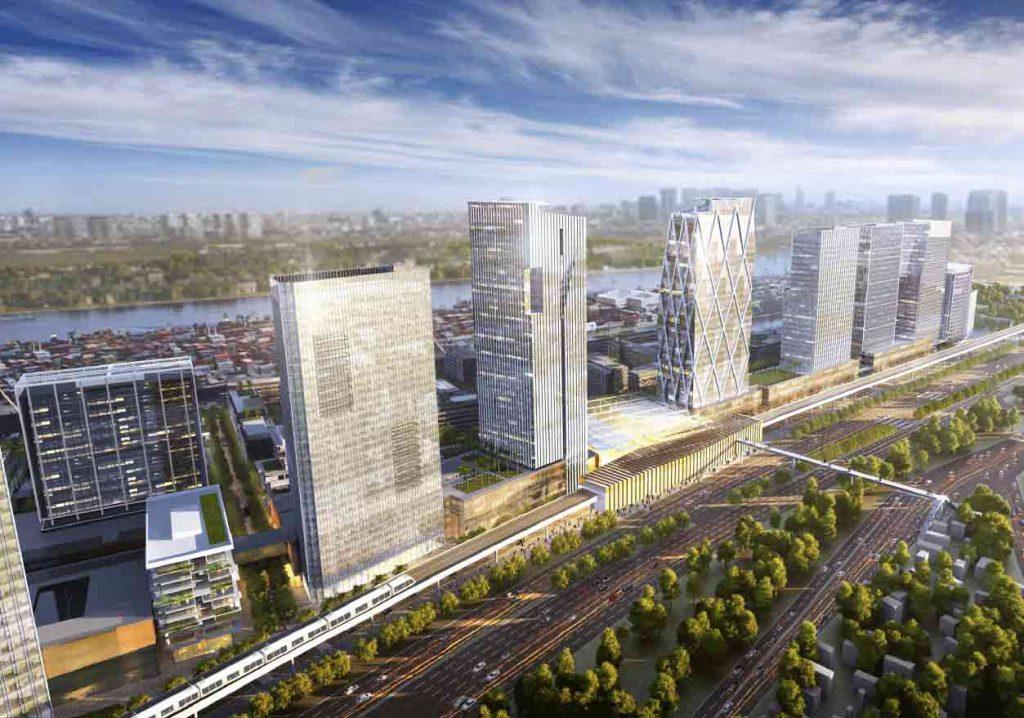Các tòa văn phòng Saigon Quays cao 35-40 tầng là nơi đặt trụ sở chính của nhiều công ty trong và ngoài nước