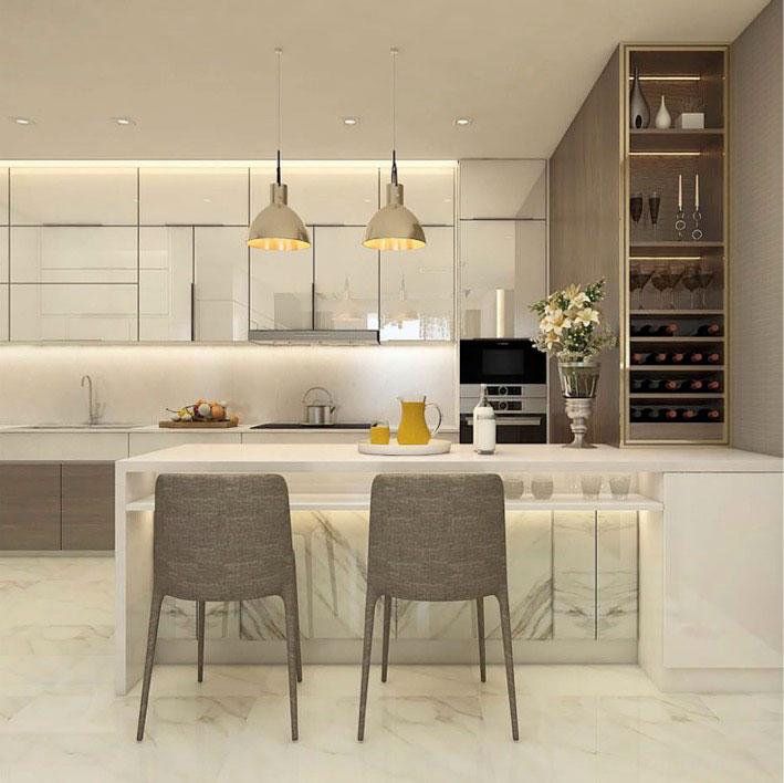 Nhà bếp căn hộ Sunwah Pearl