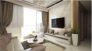 Phòng khách căn hộ Sunwah Pearl