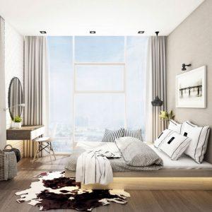 Phòng ngủ căn hộ Sunwah Pearl